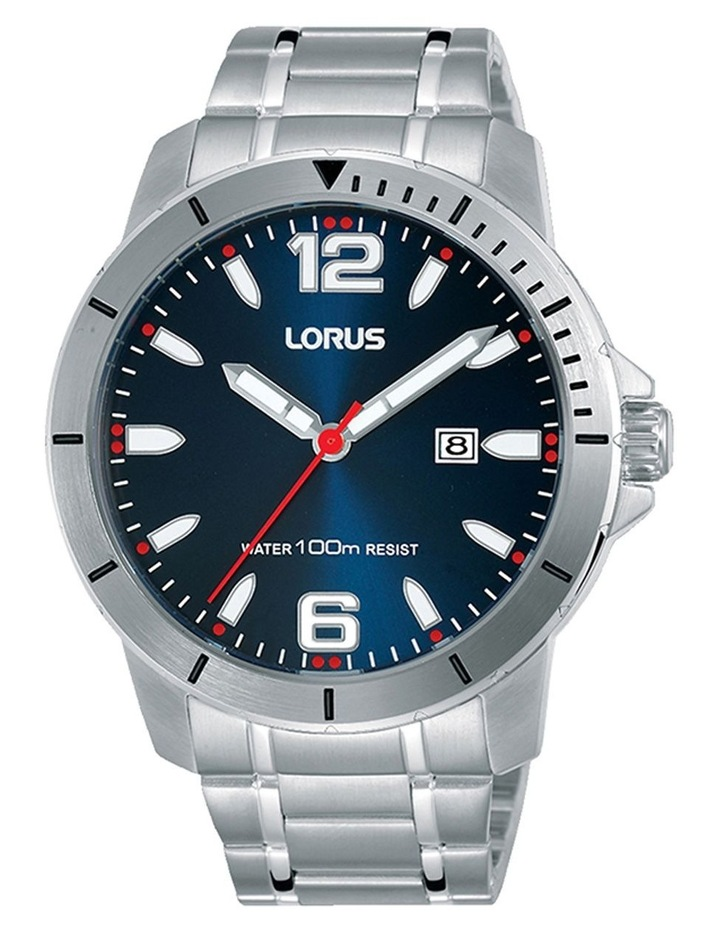 Rh963Jx-9 Silver & Blue Sports Watch image 1