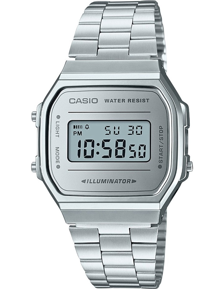 Vintage Digital Silver Watch image 1