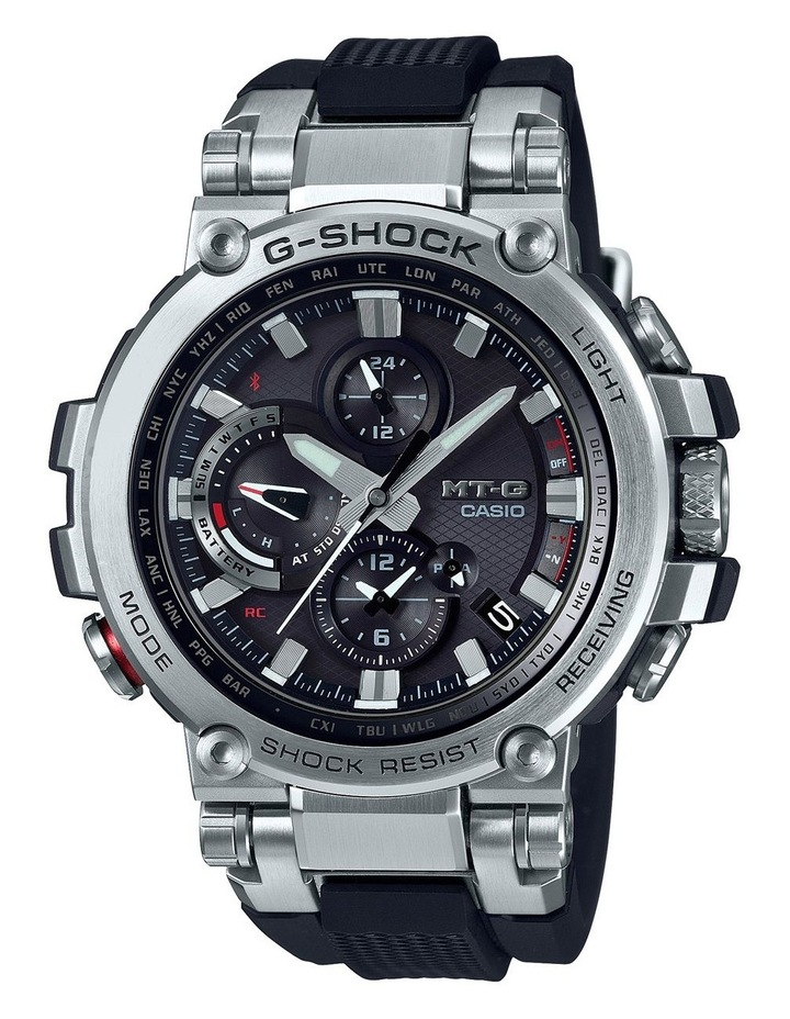 MTGB1000-1A MTG Silver and Black Watch image 1