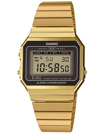 d44ffa82f418 CasioCasio Vintage Gold Digital Watch With Stainless Band A700WG-9A. Casio  Casio Vintage Gold Digital Watch With Stainless Band A700WG-9A