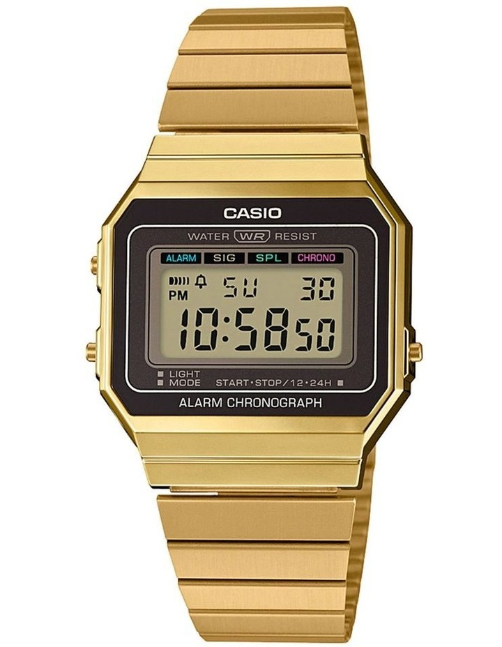 Casio Vintage Gold Digital Watch With Stainless Band A700WG-9A image 1