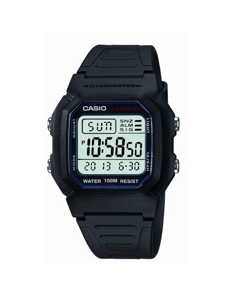Casio Black Digital Resin Watch W800H-1 image 1