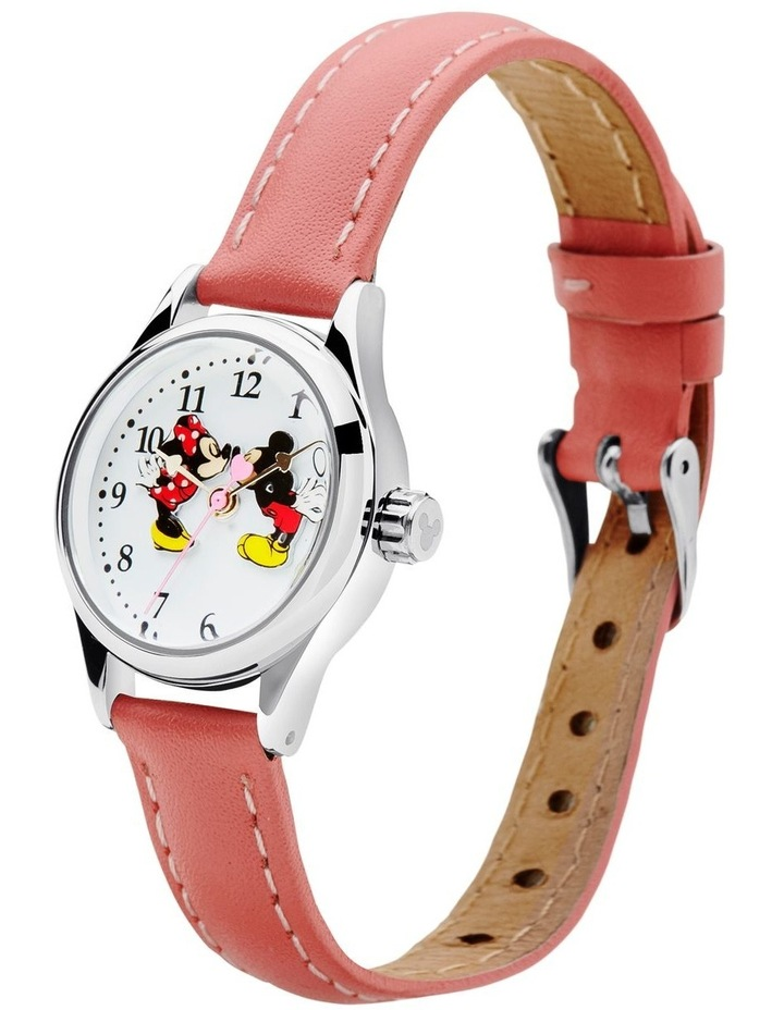Petite Mickey & Minnie in Love Pink Leather Analog Watch image 2