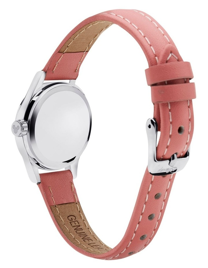 Petite Mickey & Minnie in Love Pink Leather Analog Watch image 4