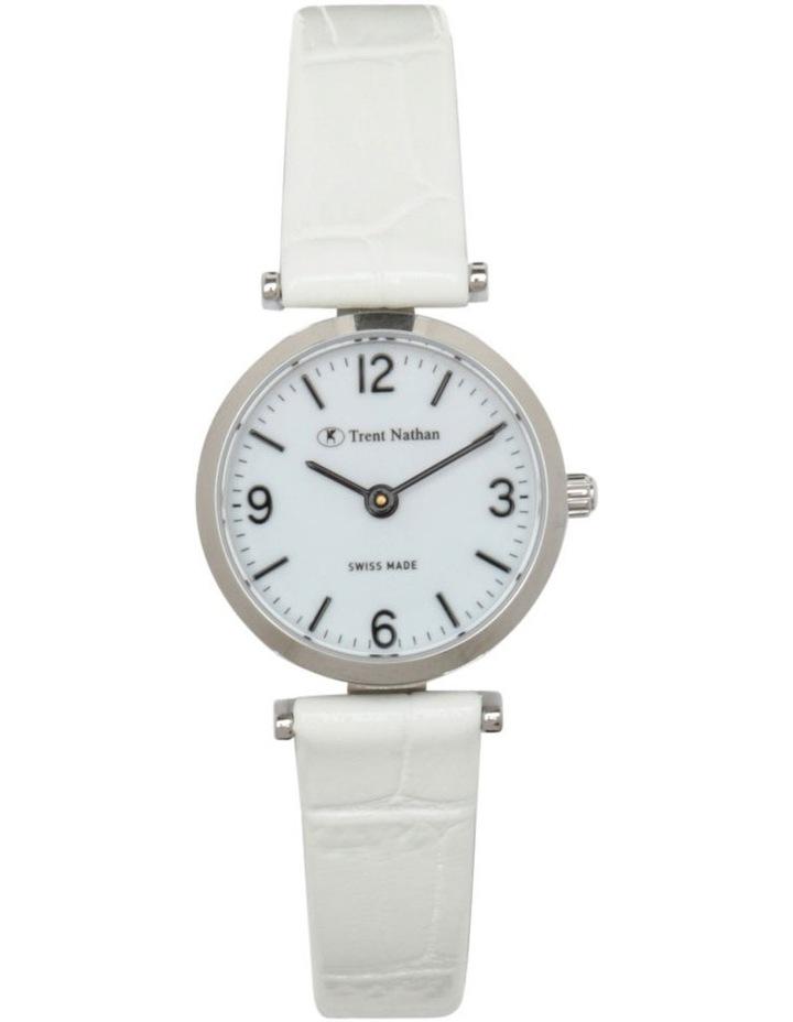 TS4S02L4 Silver Case White Strap Watch image 1
