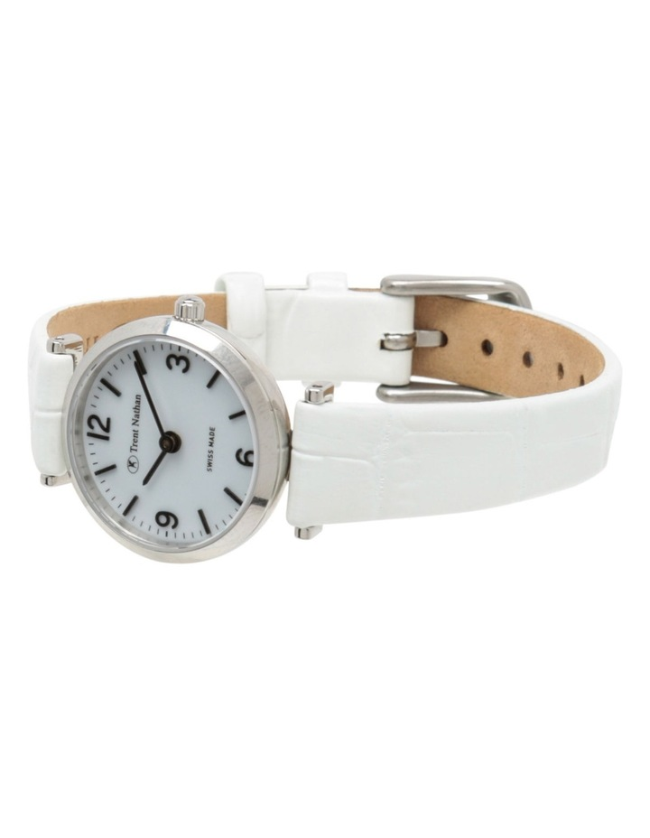 TS4S02L4 Silver Case White Strap Watch image 3