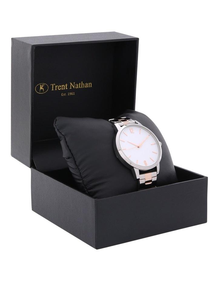 TNASKAS18004 Ladies Metal Band Gift Box Watch Rhodium/Rose Gold image 3