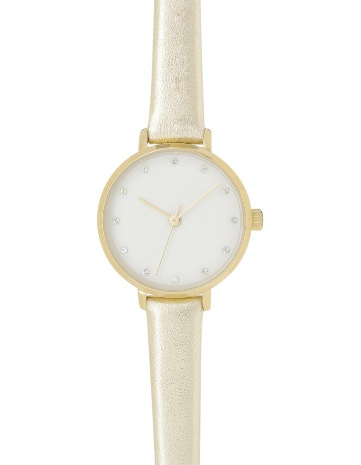 Petite Round Gold Watch image 1