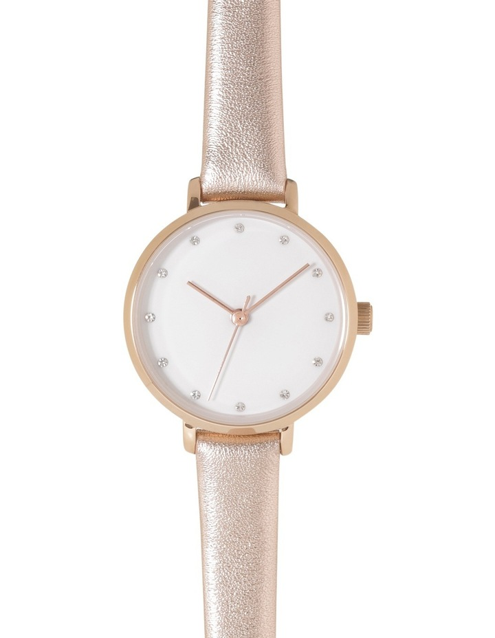 Petite Round Rose Gold Watch image 1