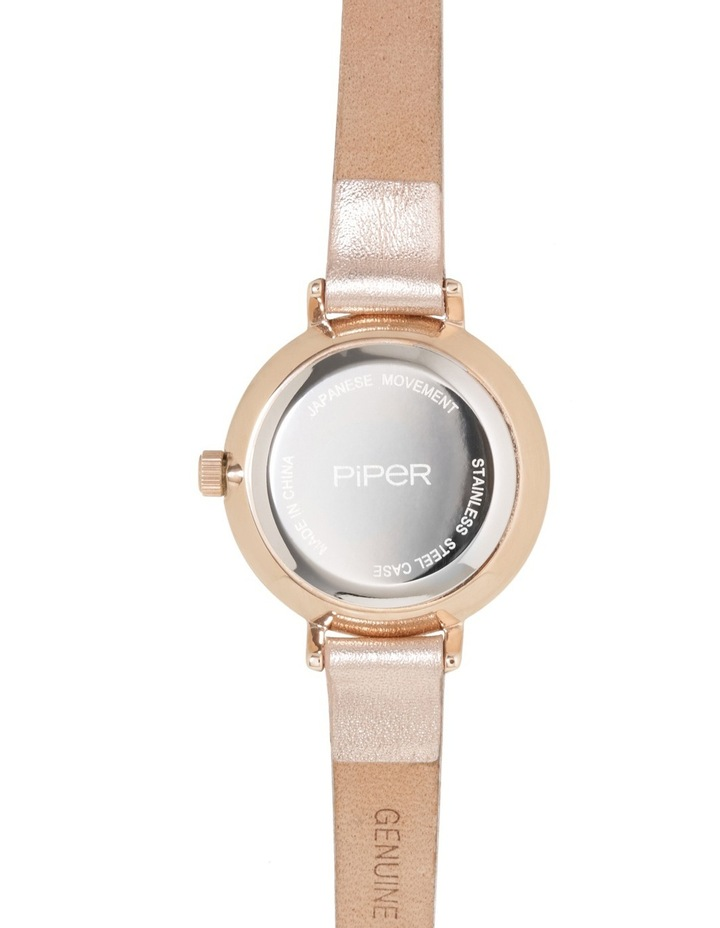 Petite Round Rose Gold Watch image 3
