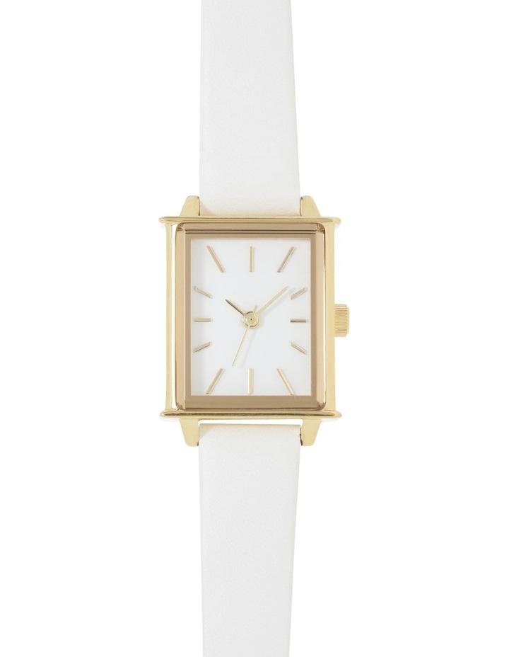 Petite Square White Watch image 1