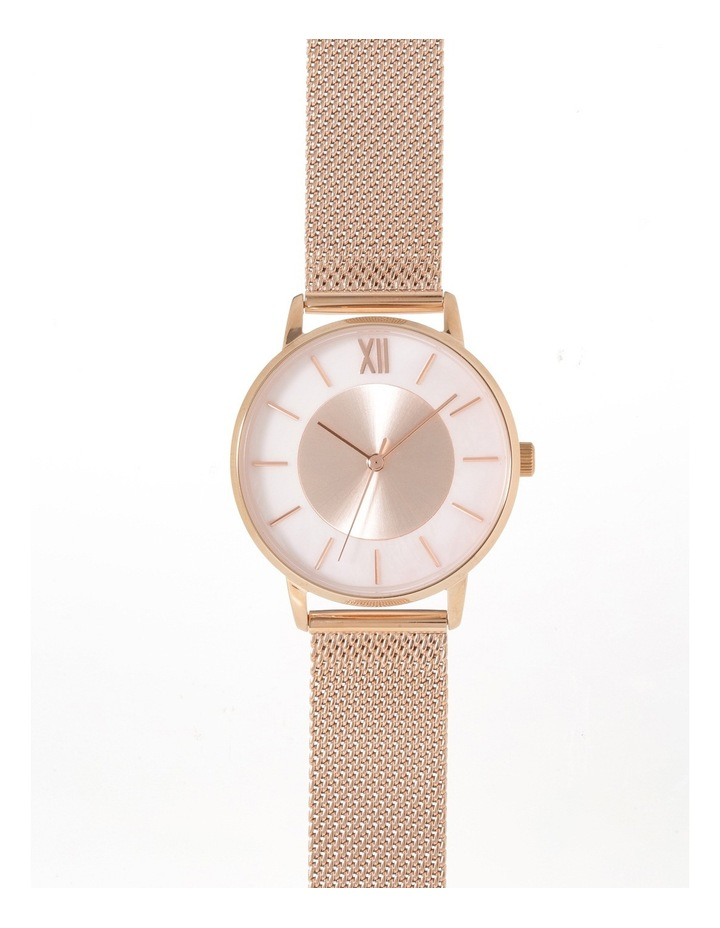 Rose Gold Mesh Band Watch image 1