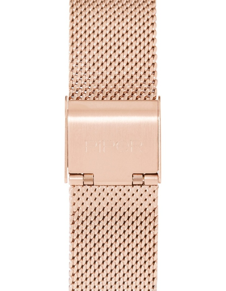 Rose Gold Mesh Band Watch image 2