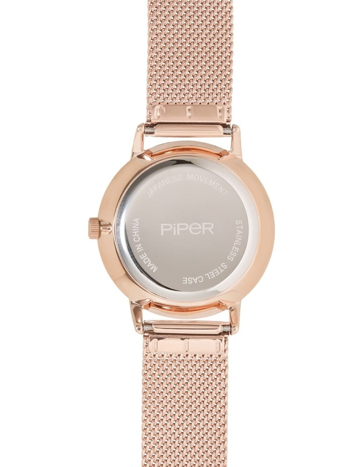 Rose Gold Mesh Band Watch image 3