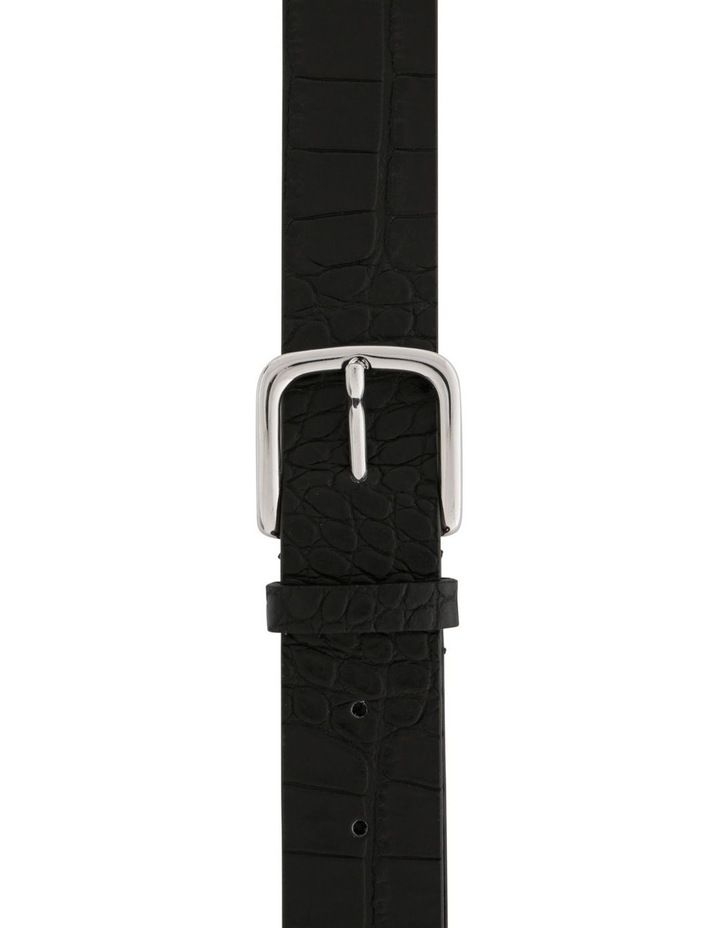 Smooth Leather Belt with Square Buckle image 1