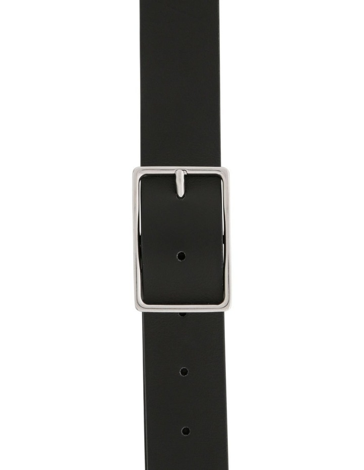 Smooth Calf Leather Belt with Rectangle Buckle image 1