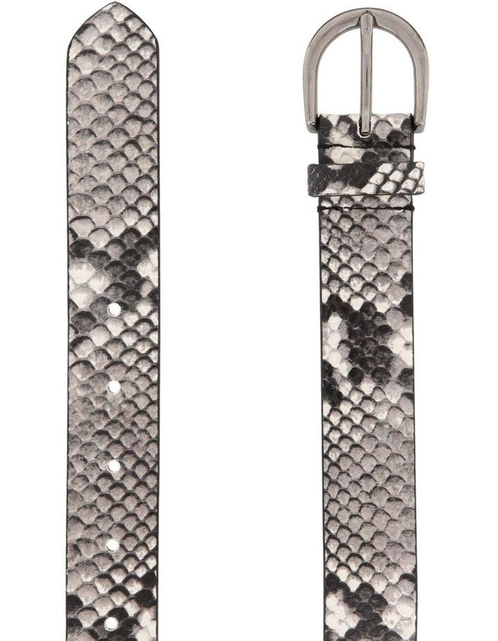 Imitation Python Belt with Oval Buckle image 2