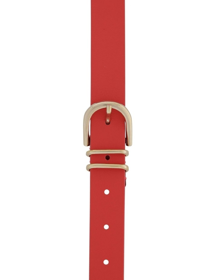 2.5cm Classic Leather Belt with Double Keepers image 1