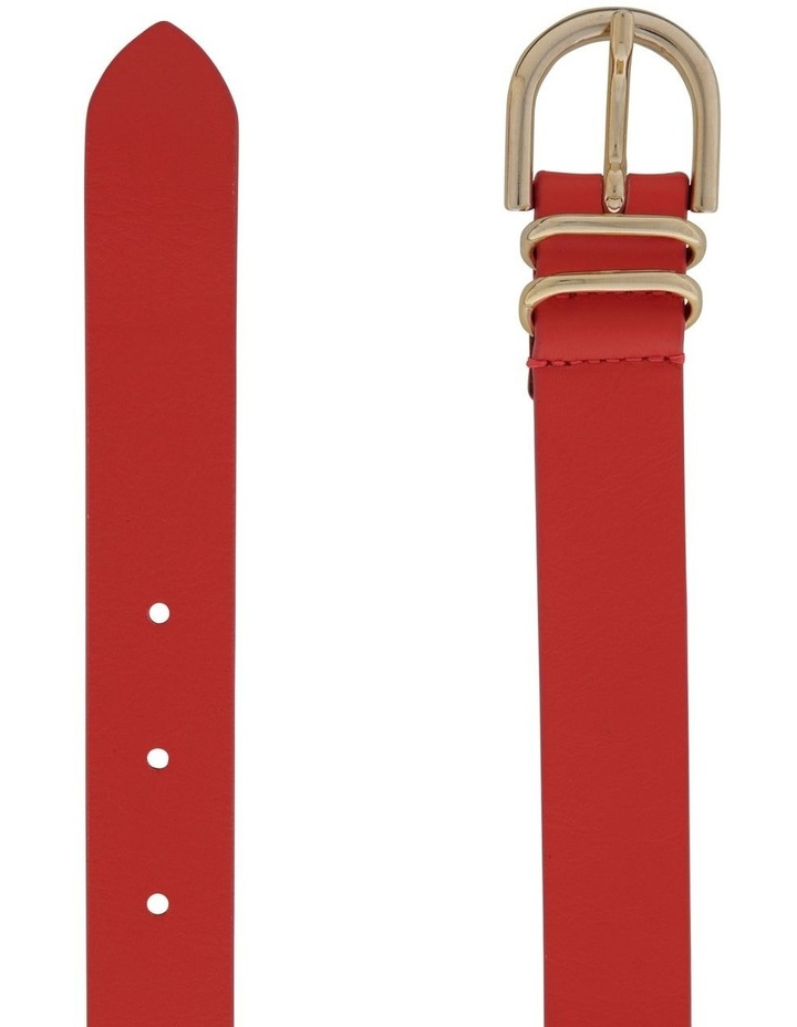 2.5cm Classic Leather Belt with Double Keepers image 2