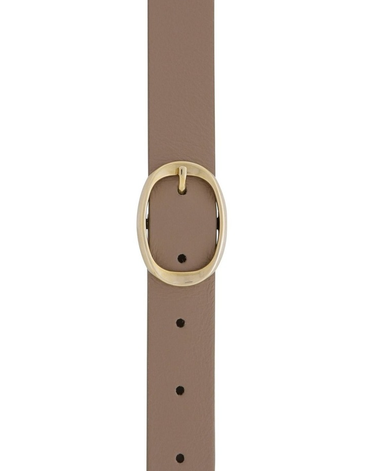 2.5cm Leather Belt with Oval Buckle image 1