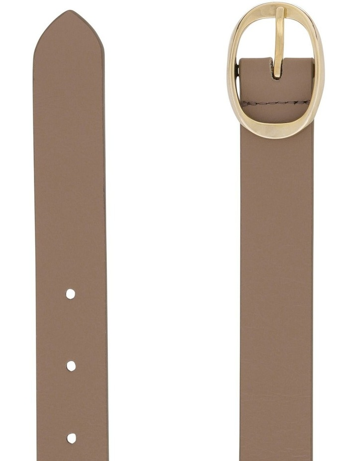 2.5cm Leather Belt with Oval Buckle image 2