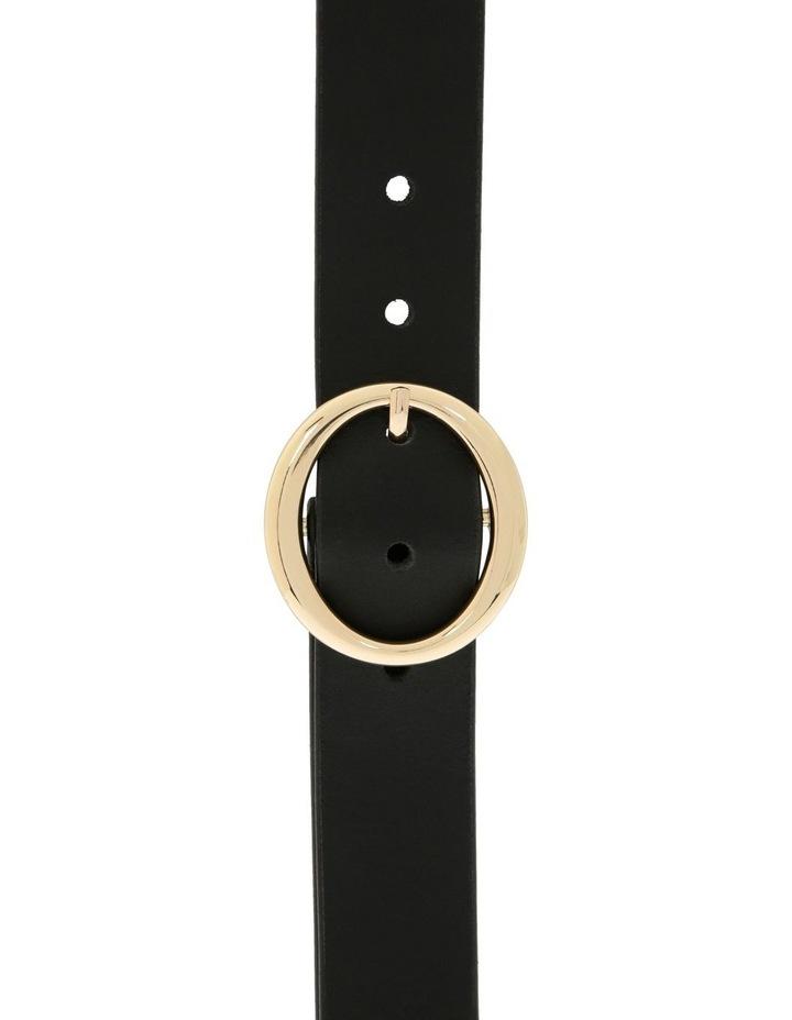 Basque Black Leather Maggie Daley Belt image 1