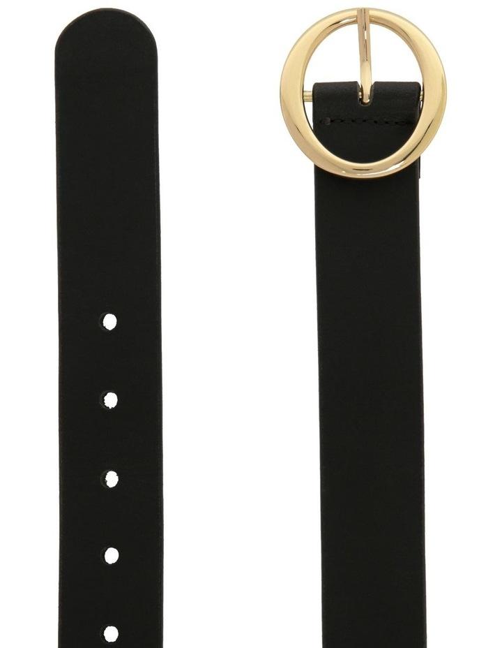Basque Black Leather Maggie Daley Belt image 2