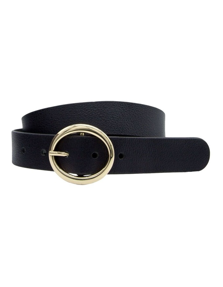 Basque Black Leather Maggie Daley Belt image 3