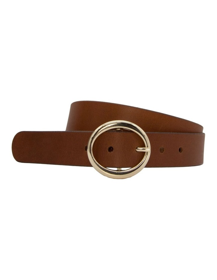 Tobacco Tan Leather Maggie Daley Belt image 3