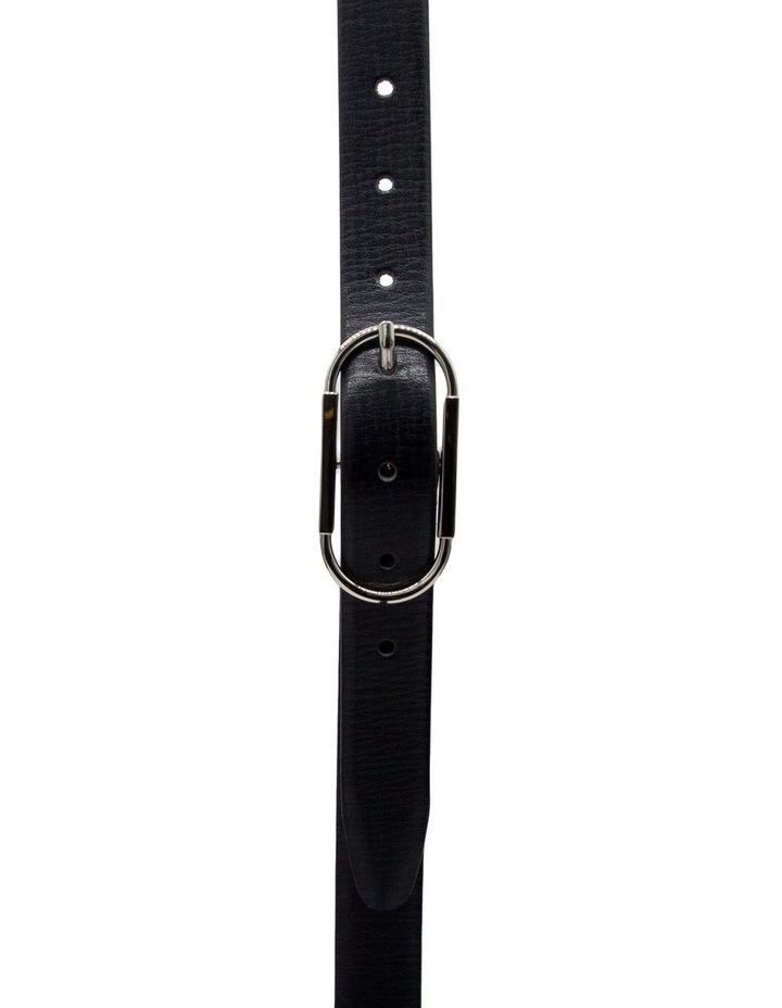 Basque Black Leather High Profile Belt image 1
