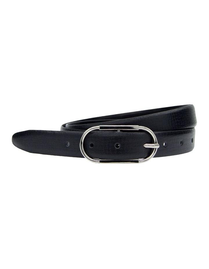 Basque Black Leather High Profile Belt image 3