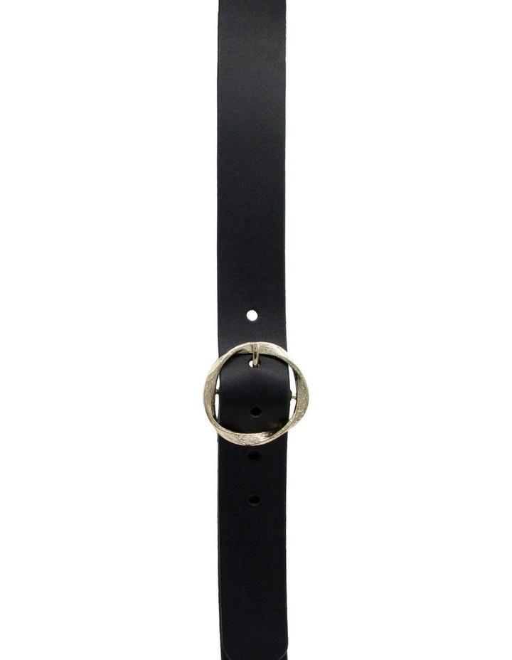 Black Leather Rosie Belt image 1