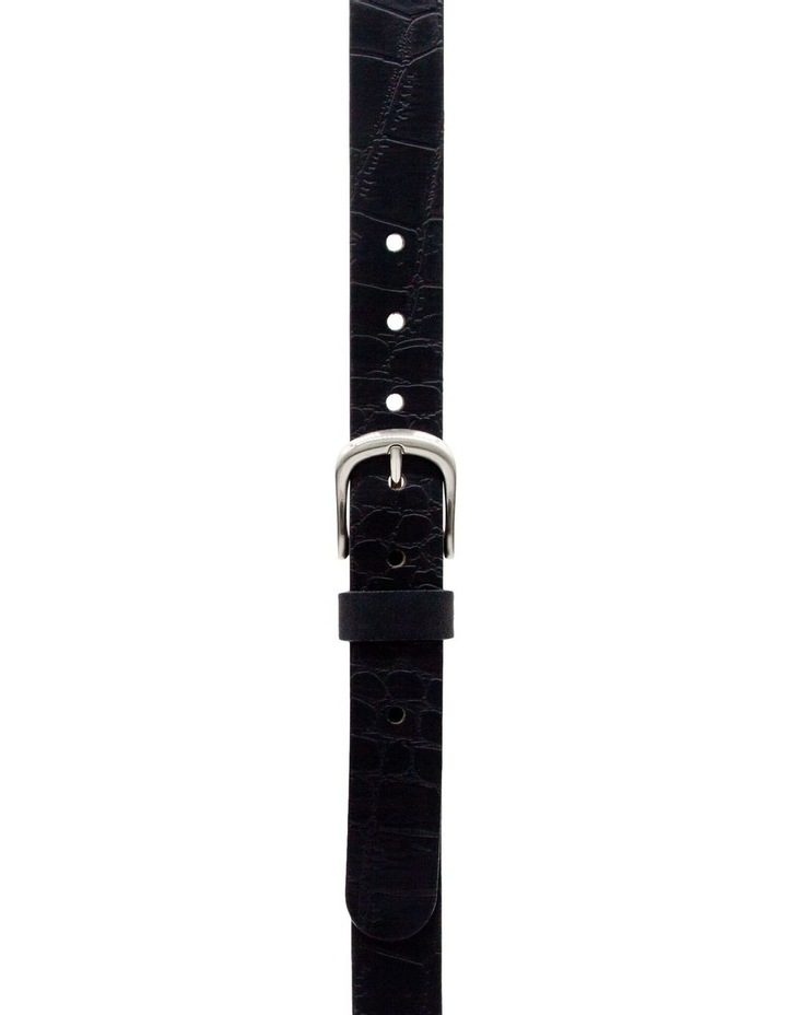 Trent Nathan Black Leather Chico Croc Belt image 1