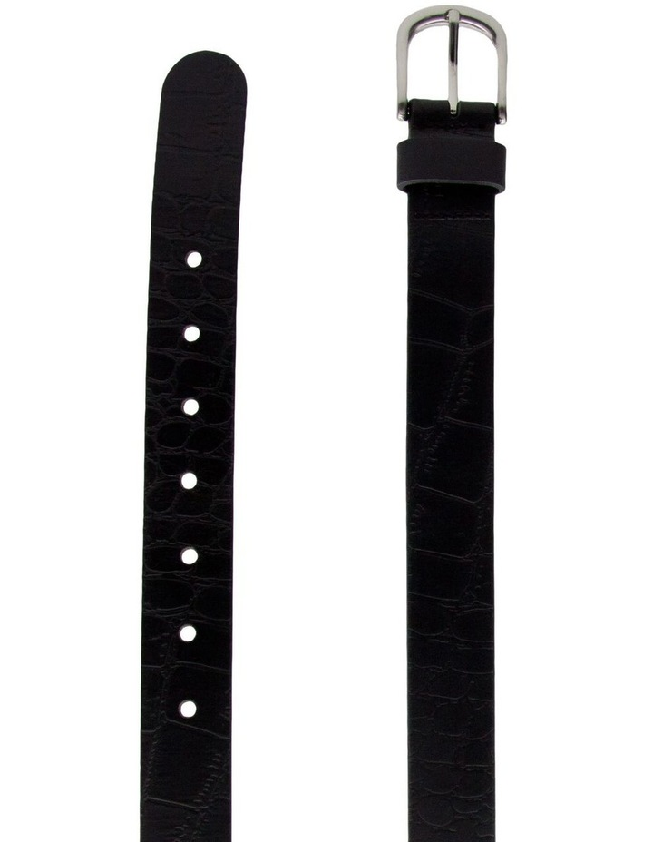 Trent Nathan Black Leather Chico Croc Belt image 2