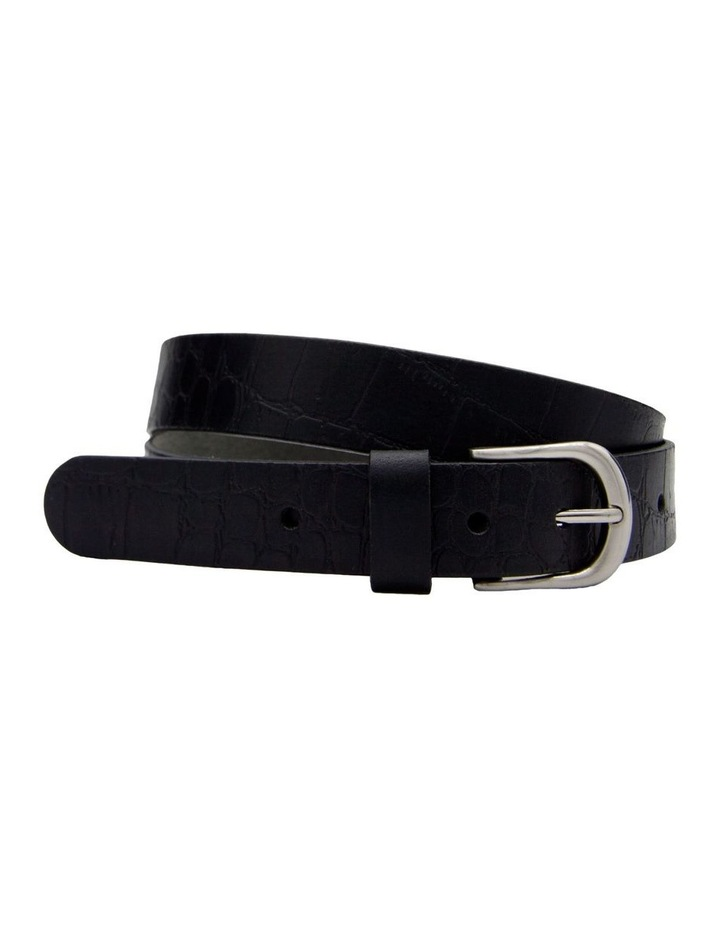 Trent Nathan Black Leather Chico Croc Belt image 3