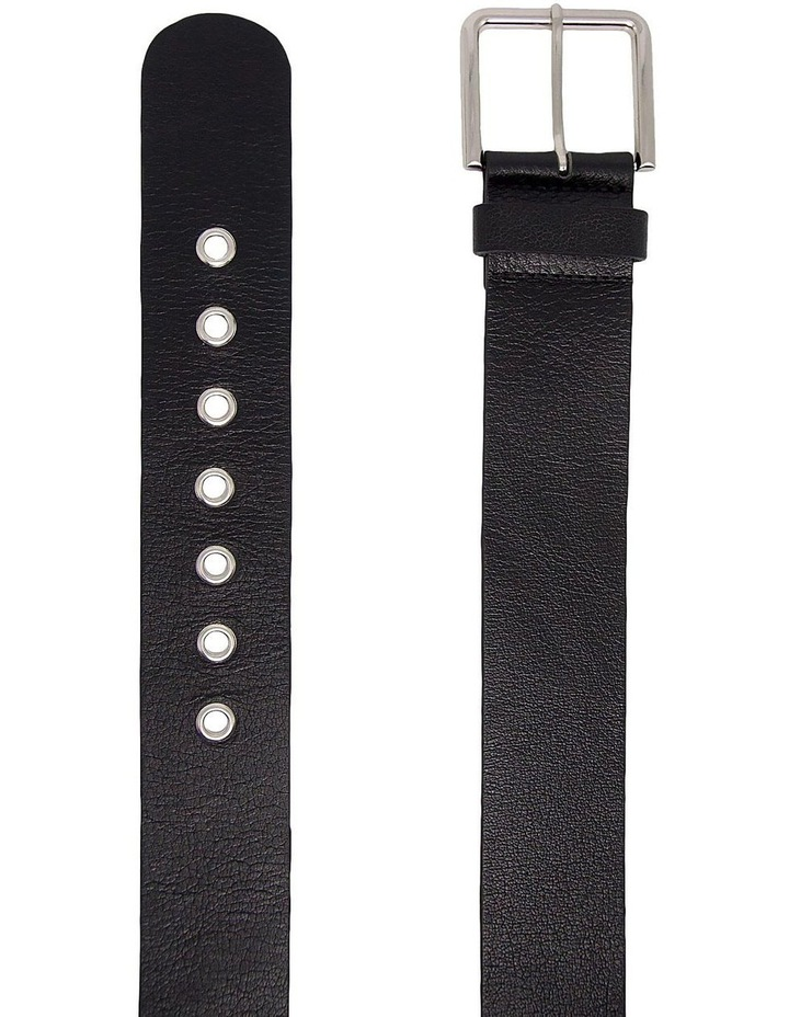 Trent Nathan Black Leather Acorn Belt image 2