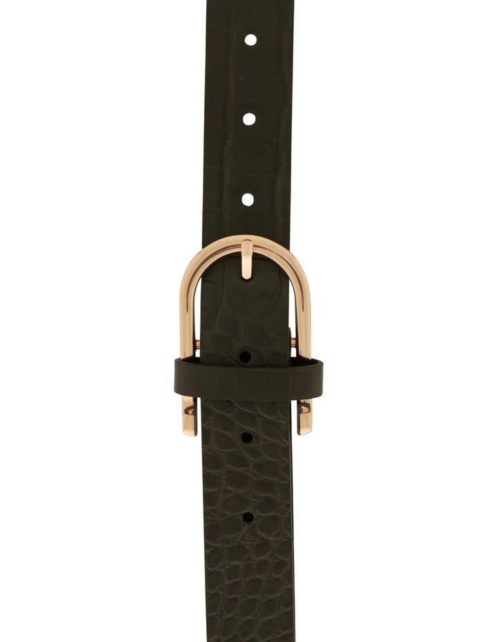 Large Crocskin Horseshoe Buckle Belt image 1
