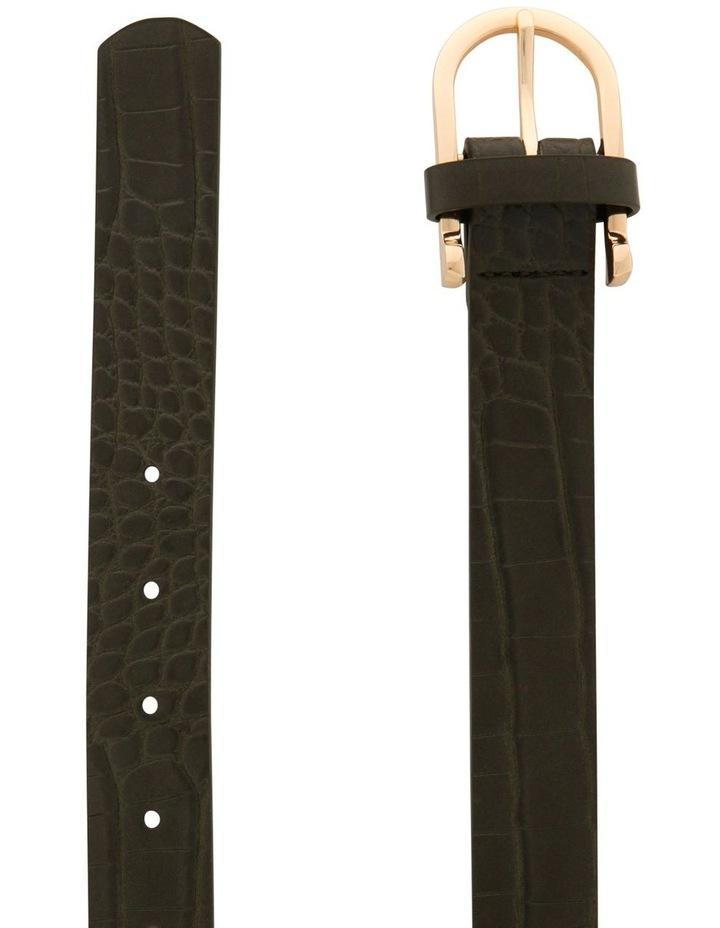 Large Crocskin Horseshoe Buckle Belt image 2
