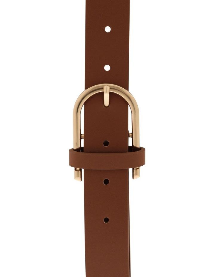 Large Classic Tan Horseshoe Buckle Belt image 1