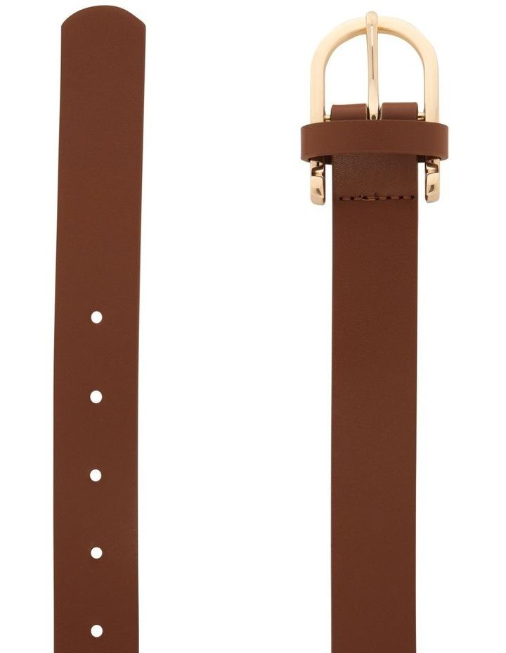 Large Classic Tan Horseshoe Buckle Belt image 2