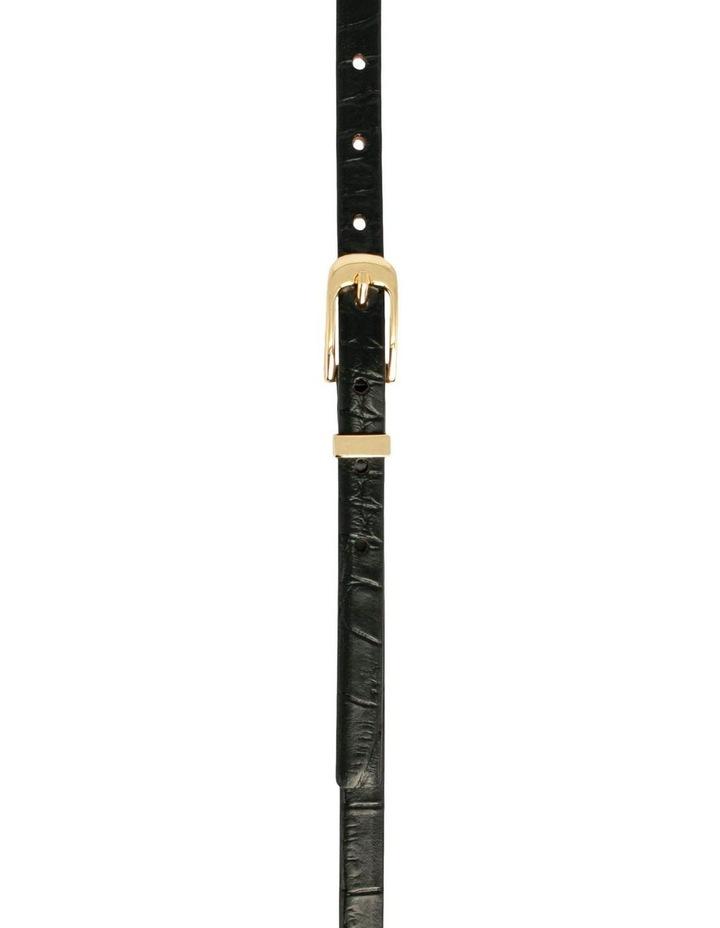 Black Leather Chico Croc Belt image 1