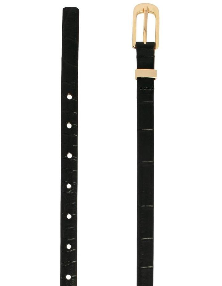 Black Leather Chico Croc Belt image 2