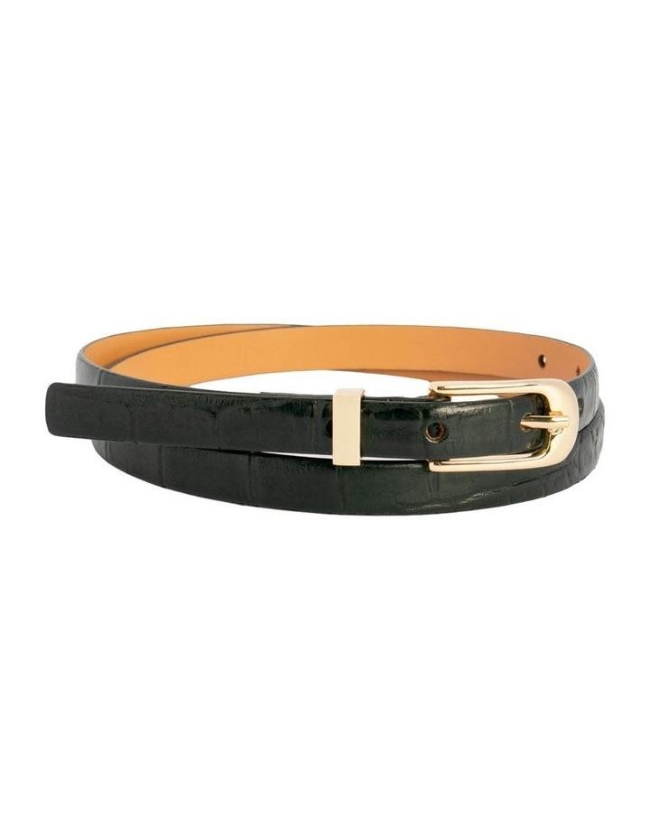 Black Leather Chico Croc Belt image 3