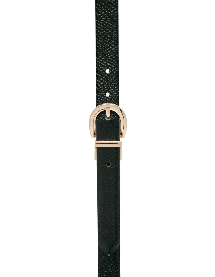 Black Snake/Black Leather Westwood Belt image 1