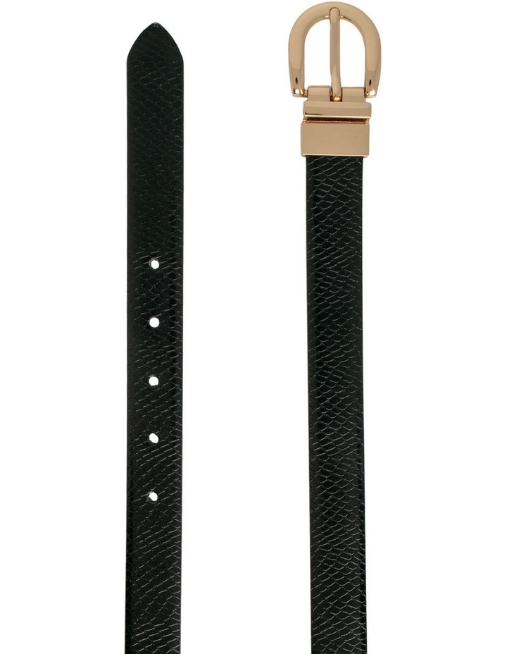 Black Snake/Black Leather Westwood Belt image 2