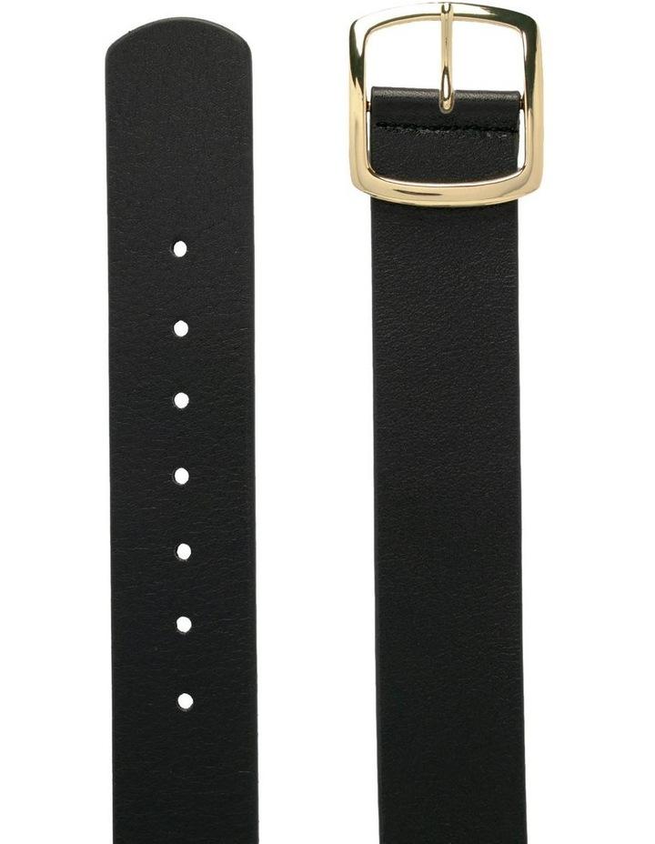 Black Leather Alexis Belt image 2
