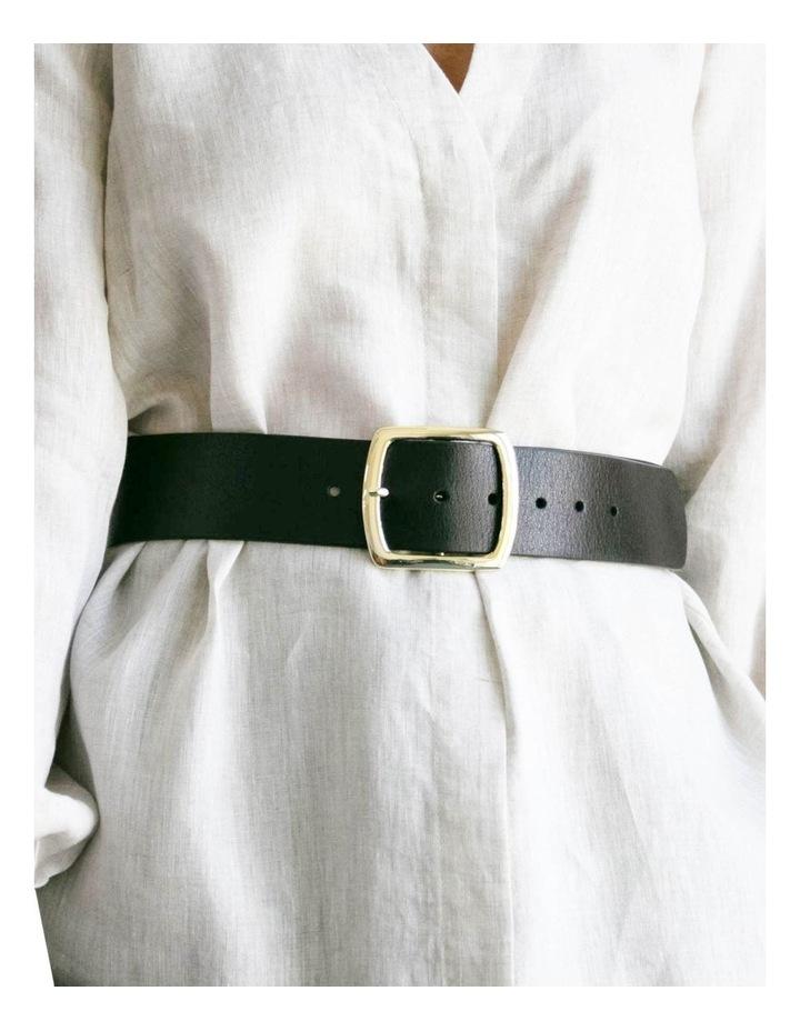 Black Leather Alexis Belt image 4
