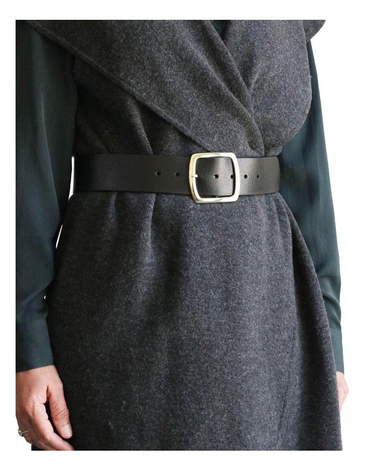 Black Leather Alexis Belt image 5