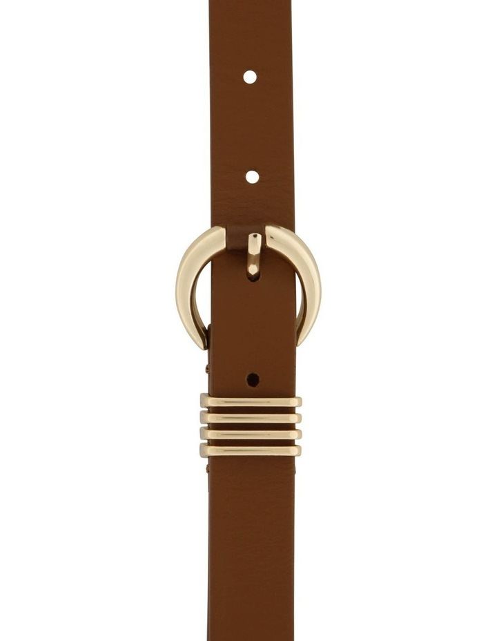 2 cm Flat Leather With 4 Keeper Belt image 1
