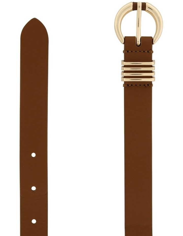 2 cm Flat Leather With 4 Keeper Belt image 2